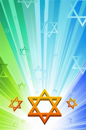 illustration of happy hanukkah with star of david Stock Photo - Budget Royalty-Free & Subscription, Code: 400-04763911
