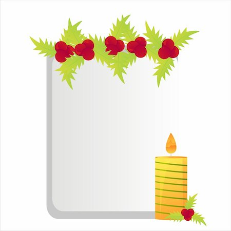 christmas candle frame Stock Photo - Budget Royalty-Free & Subscription, Code: 400-04775599
