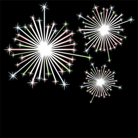 fireworks vector art - Firework in honour of Independence Day. Vector Illustration Stock Photo - Budget Royalty-Free & Subscription, Code: 400-04776164