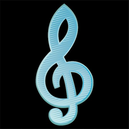 Background with Treble clef.Vector Illustration Stock Photo - Budget Royalty-Free & Subscription, Code: 400-04776207