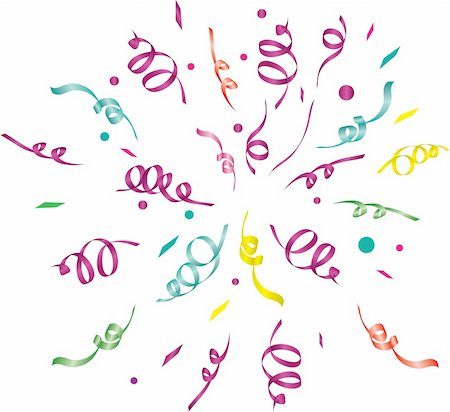 party celebration paper confetti - confetti (light background)/ vector illustration Stock Photo - Budget Royalty-Free & Subscription, Code: 400-04776275