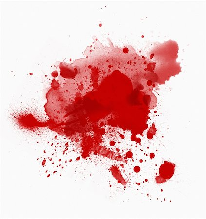 Blood spots isolated over the white background Stock Photo - Budget Royalty-Free & Subscription, Code: 400-04779700