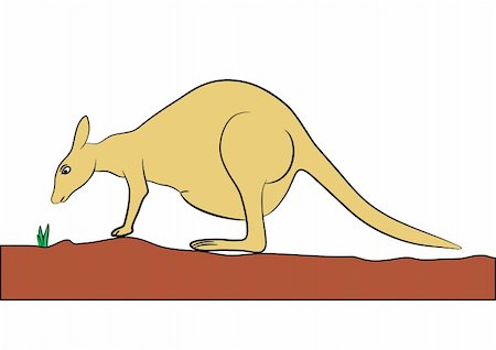 Illustration of the kangaroo - hand drawing - vector. This file is vector, can be scaled to any size without loss of quality. Stock Photo - Budget Royalty-Free & Subscription, Code: 400-04779964