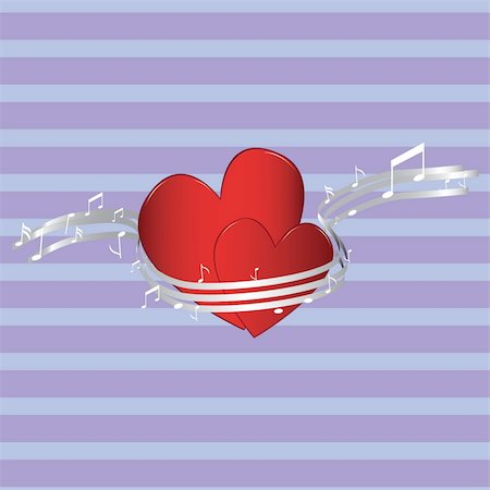 simsearch:400-04863562,k - Valentine background, music & romance vector illustration Stock Photo - Budget Royalty-Free & Subscription, Code: 400-04770010