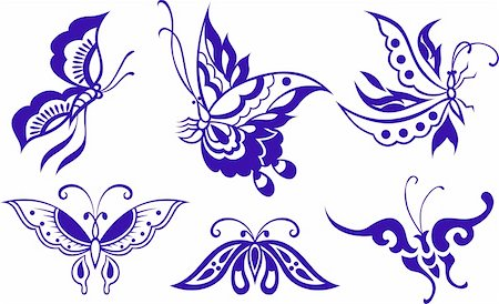 butterfly illustration Stock Photo - Budget Royalty-Free & Subscription, Code: 400-04770522