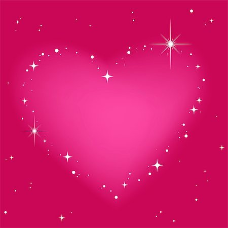 fireworks vector art - Star heart in pinkt sky Stock Photo - Budget Royalty-Free & Subscription, Code: 400-04771202