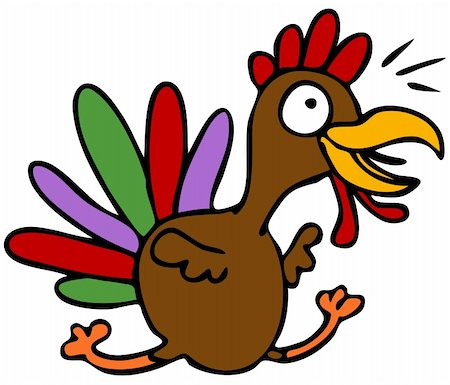 An image of a cartoon turkey character. Stock Photo - Budget Royalty-Free & Subscription, Code: 400-04771790