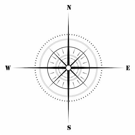 illustration of sketchy compass on isolated background Stock Photo - Budget Royalty-Free & Subscription, Code: 400-04773117