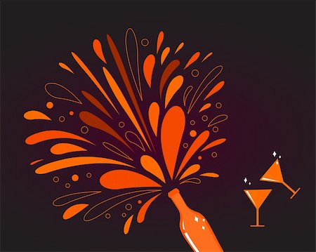 Red wine with splash explosion. Vector Illustration. Stock Photo - Budget Royalty-Free & Subscription, Code: 400-04784275