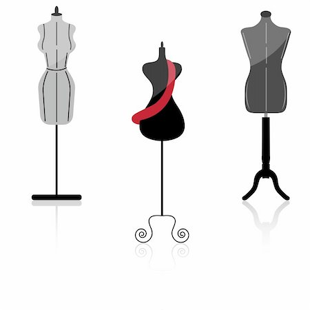 illustration of mannequin on white background Stock Photo - Budget Royalty-Free & Subscription, Code: 400-04786320