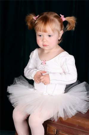 Little ballet toddler wearing a white tutu Stock Photo - Budget Royalty-Free & Subscription, Code: 400-04786919