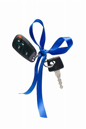 Car ignition key with security system, isolated on white Stock Photo - Budget Royalty-Free & Subscription, Code: 400-04787336