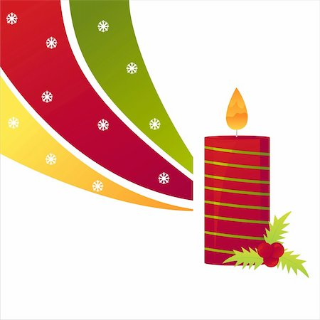 christmas candle background Stock Photo - Budget Royalty-Free & Subscription, Code: 400-04780539