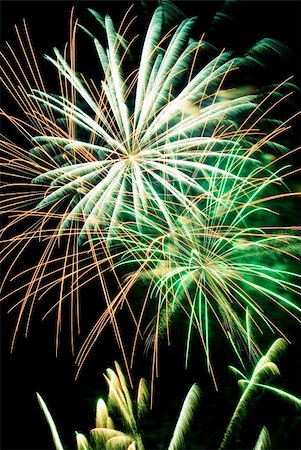 Firework streaks in the night sky Stock Photo - Budget Royalty-Free & Subscription, Code: 400-04780820
