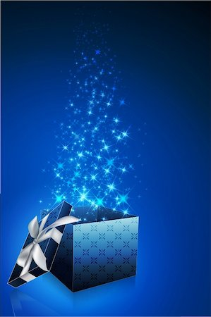 illustration of abstract gift card with open box Stock Photo - Budget Royalty-Free & Subscription, Code: 400-04781532