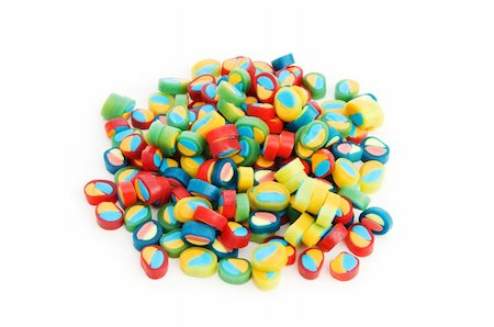 simsearch:400-04344039,k - Colourful sweets isolated on the white background Stock Photo - Budget Royalty-Free & Subscription, Code: 400-04782292
