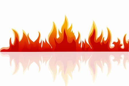 illustration of fire on white background Stock Photo - Budget Royalty-Free & Subscription, Code: 400-04783520