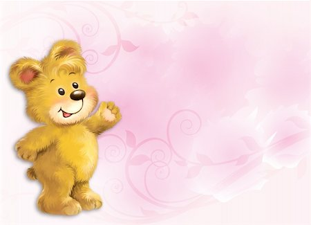 simsearch:400-04598294,k - Little teddy bear by Freehand drawing. Stock Photo - Budget Royalty-Free & Subscription, Code: 400-04794354