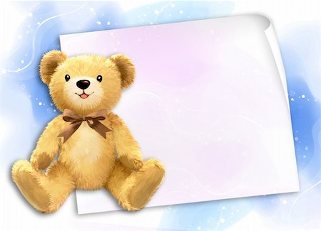simsearch:400-04598294,k - Little teddy bear by Freehand drawing. Stock Photo - Budget Royalty-Free & Subscription, Code: 400-04794350