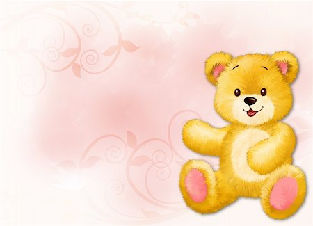 simsearch:400-04598294,k - Little teddy bear by Freehand drawing. Stock Photo - Budget Royalty-Free & Subscription, Code: 400-04794353