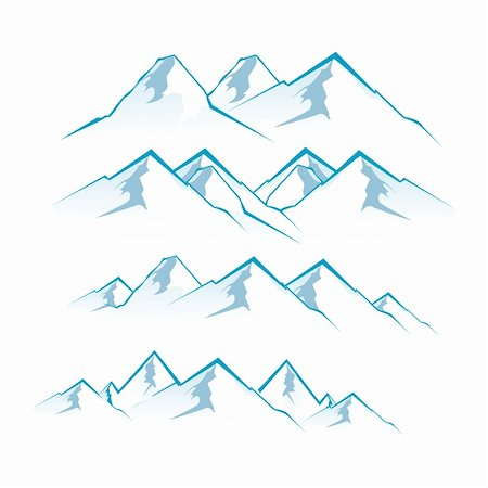 illustration of mountain view on white background Stock Photo - Budget Royalty-Free & Subscription, Code: 400-04794583