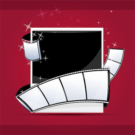 film strip - illustration of photo with reel on abstract background Stock Photo - Budget Royalty-Free & Subscription, Code: 400-04794647