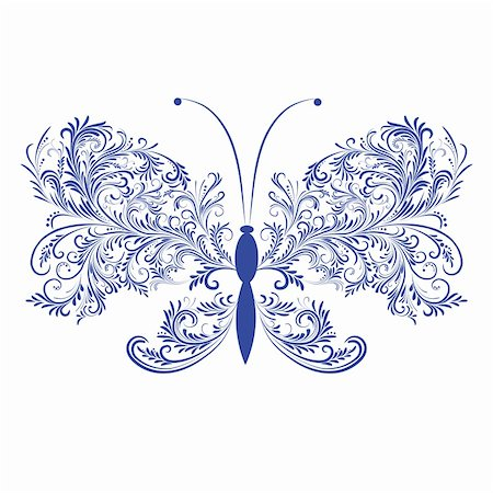 svetap (artist) - Abstract floral butterfly. Element for design. Vector illustration. Stock Photo - Budget Royalty-Free & Subscription, Code: 400-04794832