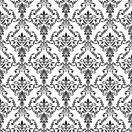 Seamless wallpaper pattern from abstract smooth forms, vector Stock Photo - Budget Royalty-Free & Subscription, Code: 400-04795588
