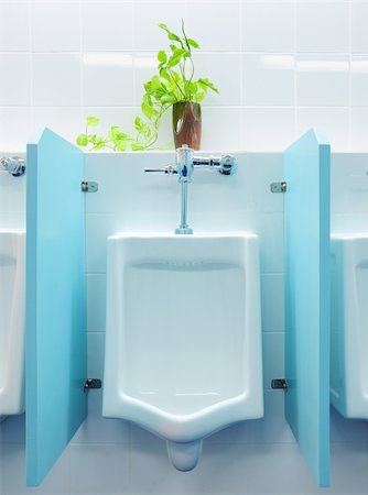 urinals at office Stock Photo - Budget Royalty-Free & Subscription, Code: 400-04797042