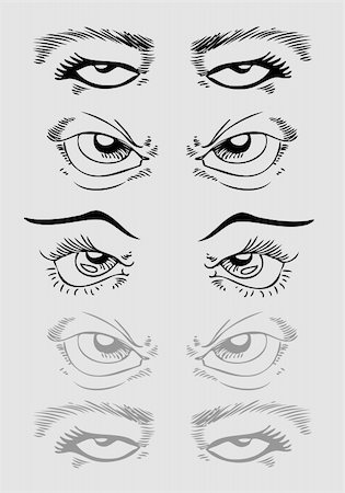 An image of a set of eyes. Stock Photo - Budget Royalty-Free & Subscription, Code: 400-04790618