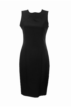 Black dress isolated on the white Stock Photo - Budget Royalty-Free & Subscription, Code: 400-04791436