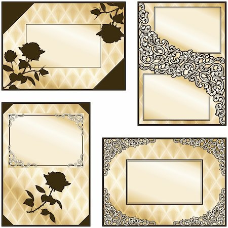 Collection of elegant brown and gold labels inspired by Victorian era designs. Graphics are grouped and in several layers for easy editing. The file can be scaled to any size. Stock Photo - Budget Royalty-Free & Subscription, Code: 400-04793417