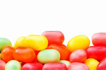 simsearch:400-04344039,k - Various jelly beans isolated on the white background Stock Photo - Budget Royalty-Free & Subscription, Code: 400-04793636