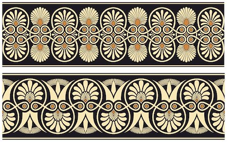 Seamless medieval oriental vector pattern Stock Photo - Budget Royalty-Free & Subscription, Code: 400-04805184