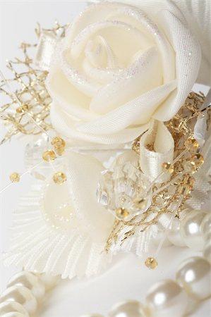 decoration wedding rose vintage - Satin wedding rose Stock Photo - Budget Royalty-Free & Subscription, Code: 400-04805587