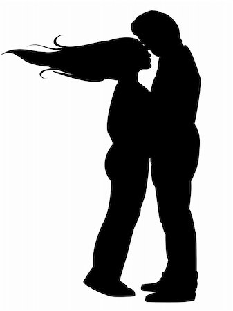 simsearch:400-04863562,k - Background with Silhouettes of kissing couple Stock Photo - Budget Royalty-Free & Subscription, Code: 400-04806818