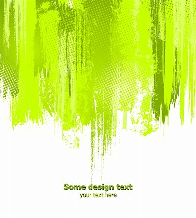 dripping splat - Green abstract paint splashes illustration. Vector background with place for your text. Stock Photo - Budget Royalty-Free & Subscription, Code: 400-04807283