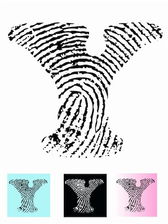 pokerman (artist) - Fingerprint Alphabet Letter Y (Highly detailed Letter - transparent so can be overlaid onto other graphics) Stock Photo - Budget Royalty-Free & Subscription, Code: 400-04807596