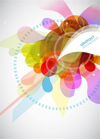 abstract colored background with circles. Stock Photo - Budget Royalty-Free & Subscription, Code: 400-04808126