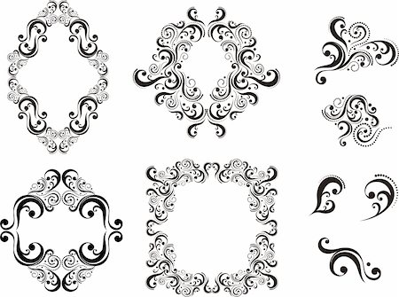 set of vector design elements isolated on white background, individual objects Stock Photo - Budget Royalty-Free & Subscription, Code: 400-04808381