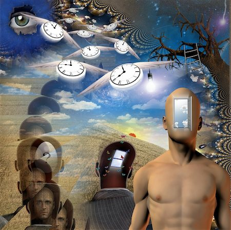 rolffimages (artist) - Human, time and mind elements Stock Photo - Budget Royalty-Free & Subscription, Code: 400-04808394
