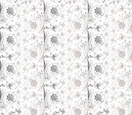 Seamless retro wallpaper pattern in light colors. Vector Stock Photo - Budget Royalty-Free & Subscription, Code: 400-04808834