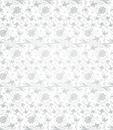 Seamless retro wallpaper pattern in light colors. Vector Stock Photo - Budget Royalty-Free & Subscription, Code: 400-04808835
