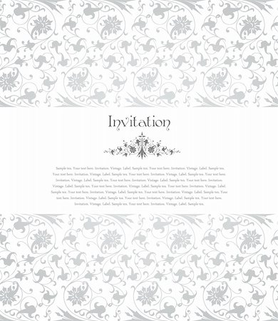 Floral background for design card - vector Stock Photo - Budget Royalty-Free & Subscription, Code: 400-04808838