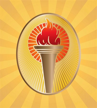 Abstract vector illustration of the olympic flame Stock Photo - Budget Royalty-Free & Subscription, Code: 400-04808845
