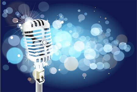 microphone background Stock Photo - Budget Royalty-Free & Subscription, Code: 400-04809733
