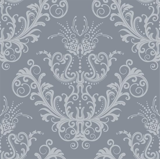 Luxury silver floral vintage wallpaper. This image is a vector illustration. Please visit my portfolio for similar illustrations. Stock Photo - Royalty-Free, Artist: lina_s, Image code: 400-04800119
