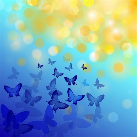 Abstract colourful background with butterflies. A vector. Stock Photo - Budget Royalty-Free & Subscription, Code: 400-04800298
