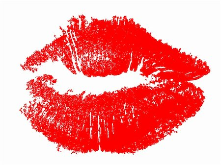 Lip Print That Works on Any Background Stock Photo - Budget Royalty-Free & Subscription, Code: 400-04800683