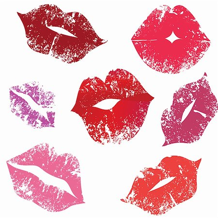 Print of lips, kiss, vector illustration.Element for design Stock Photo - Budget Royalty-Free & Subscription, Code: 400-04801287